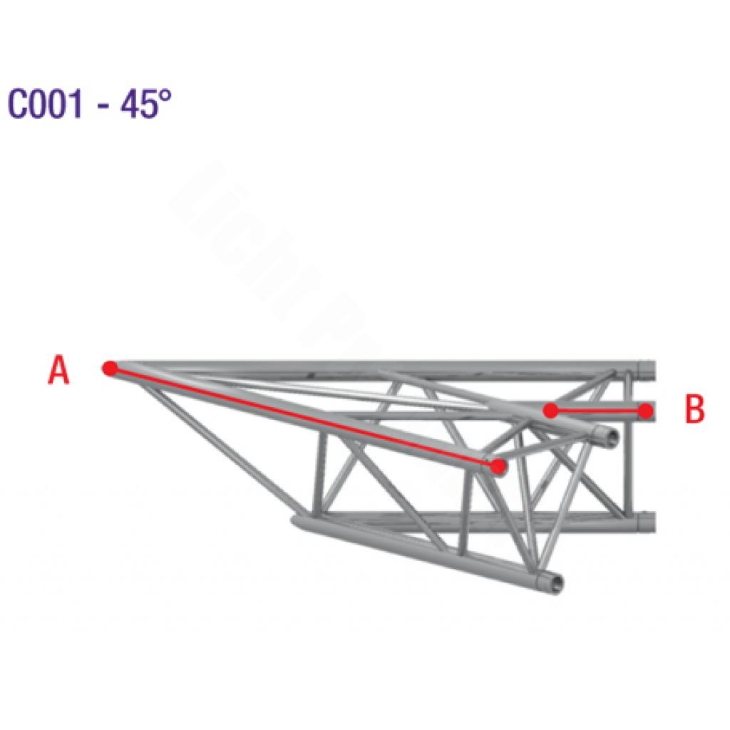 Prolyte truss h40d c001 ecke 2 wege 45 grad 233 89 for Sofa 45 grad ecke
