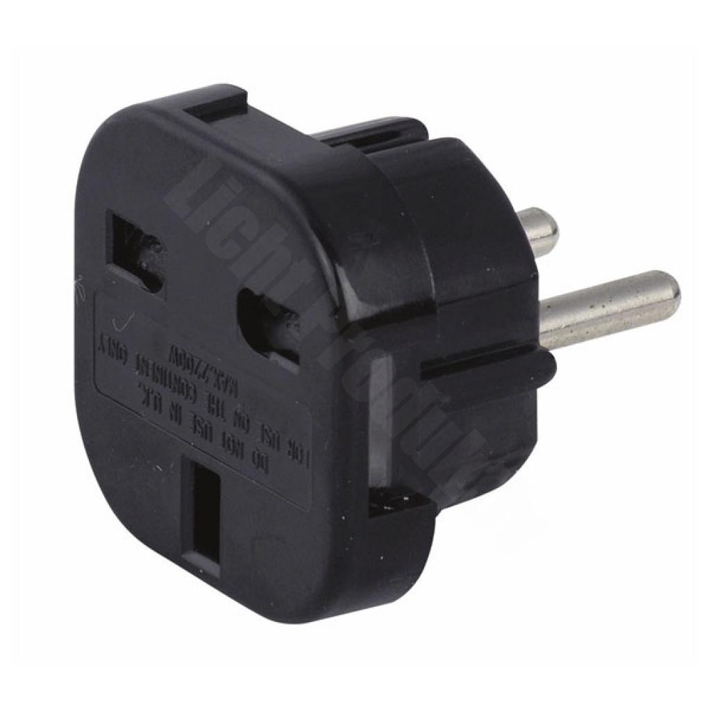 Showtec Schuko to UK plug adapter - 230V/240V, 2,03 ...