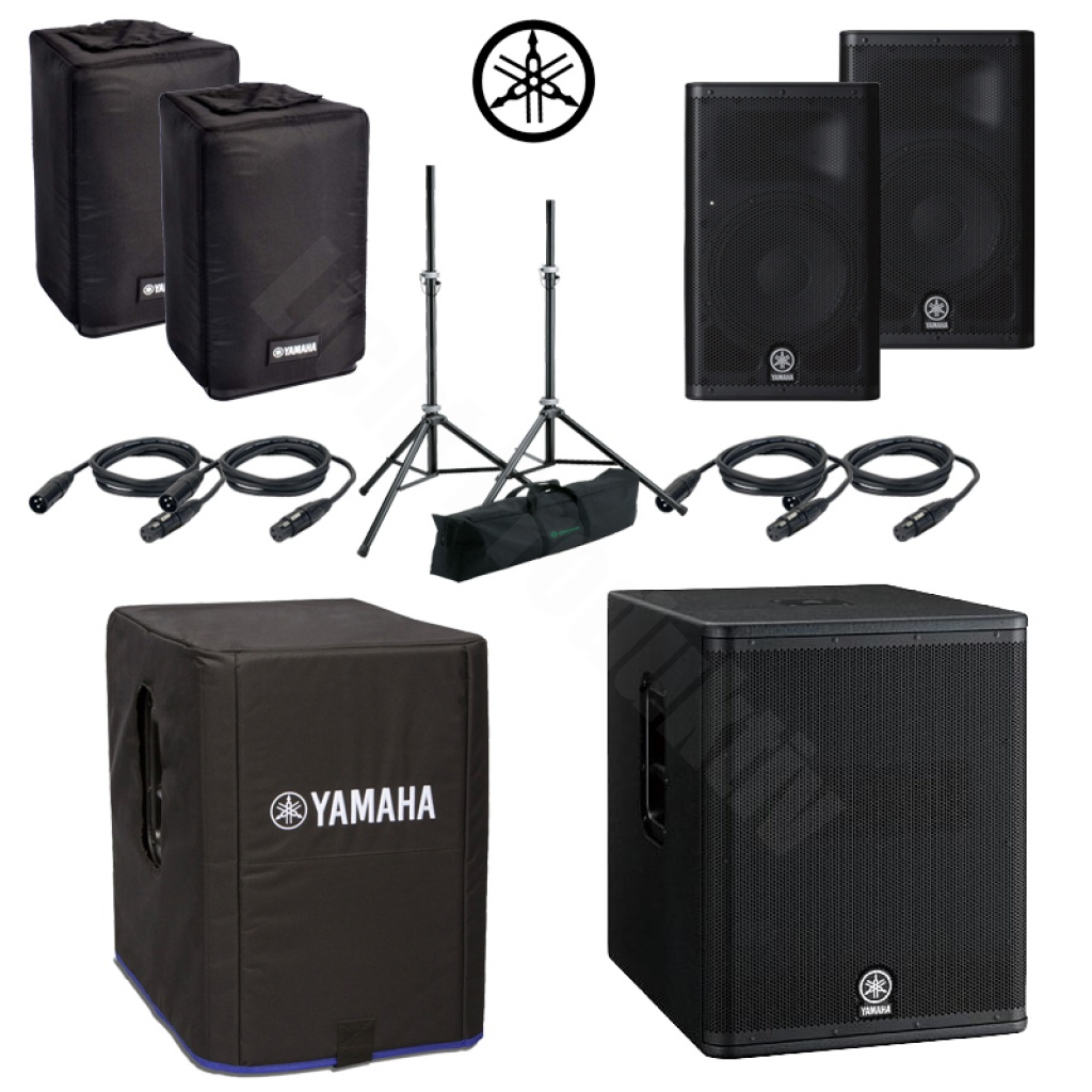 yamaha 2x dxr8 lautsprecher dxs12 subwoofer k m stativ. Black Bedroom Furniture Sets. Home Design Ideas