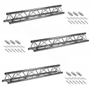 3x Prolyte Truss X30D-L200 Length 2m + Connectors Set