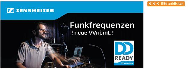 Sennheiser Funkfrequenz Banner