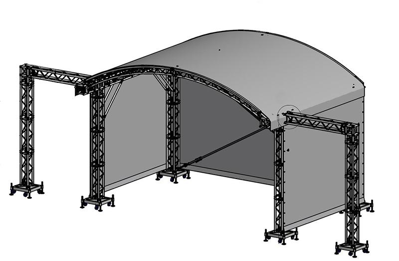 technische Zeichnung ARC ROOF