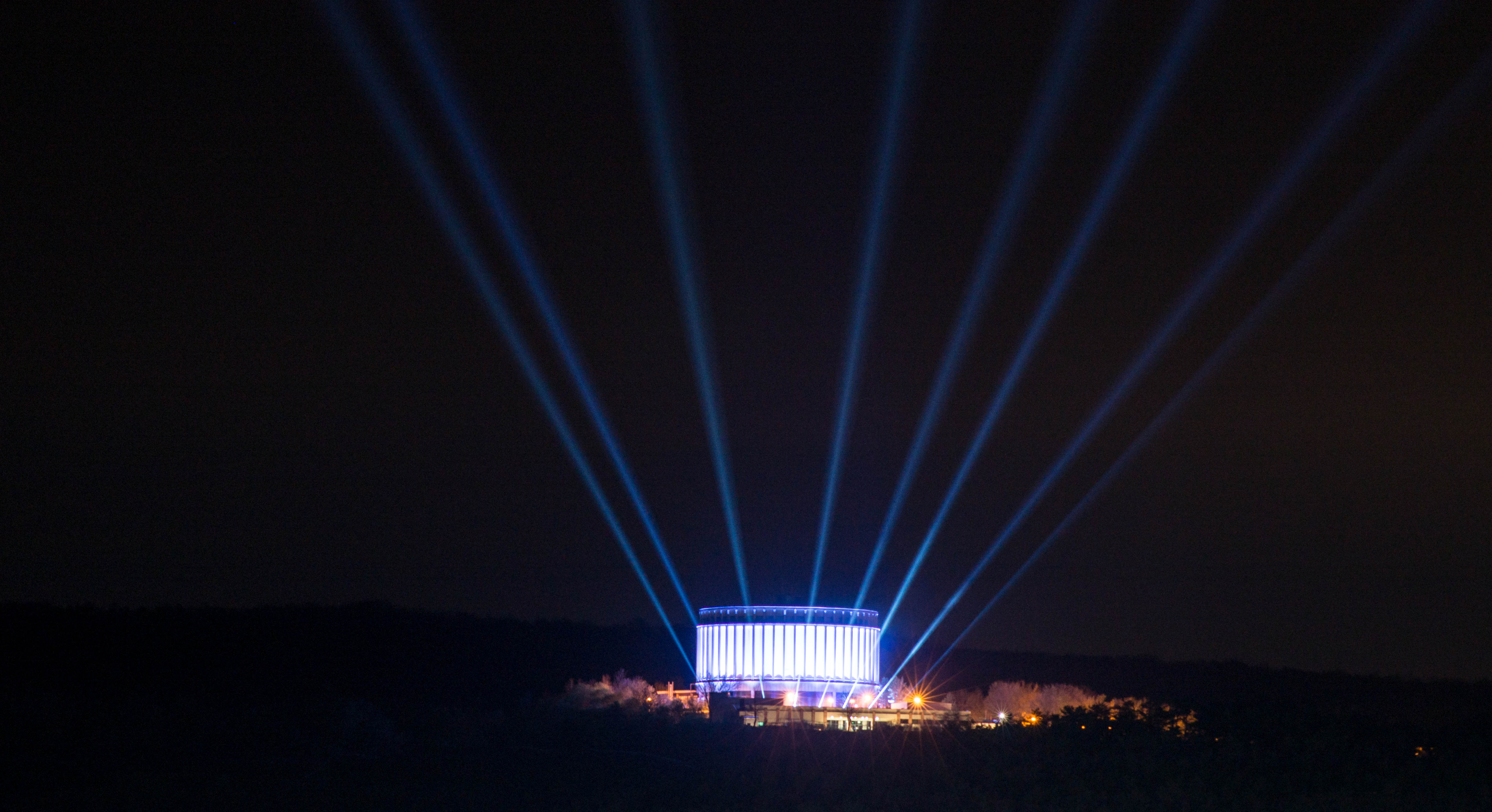 Panorama Bad Frankenhausen beleuchtet