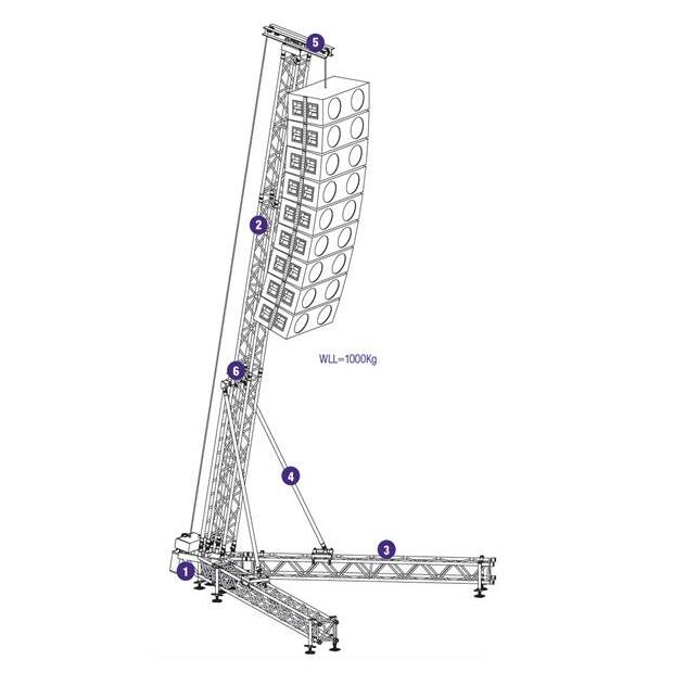Prolyte Rigging Tower RT-S36V-WLL1,0T-9M