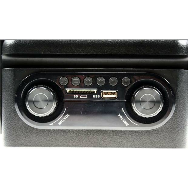 POWER8-LED - mobiles Akku PA Karaoke System inkl. Funkmikrofon | USB | SD | Bluetooth