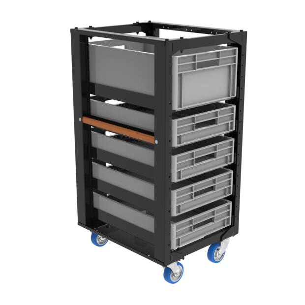 Admiral Storage cart height 110 with set B 4x castor