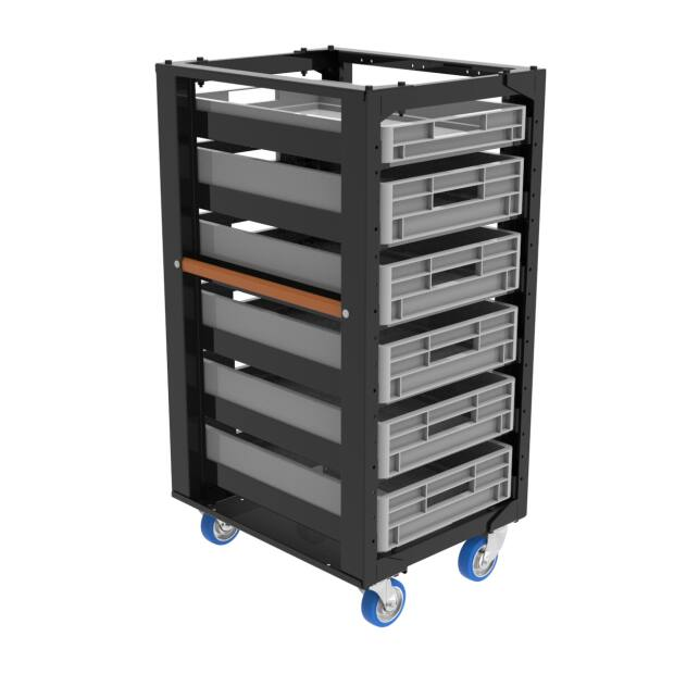 Admiral Storage cart height 110 with set C 4x castor with...
