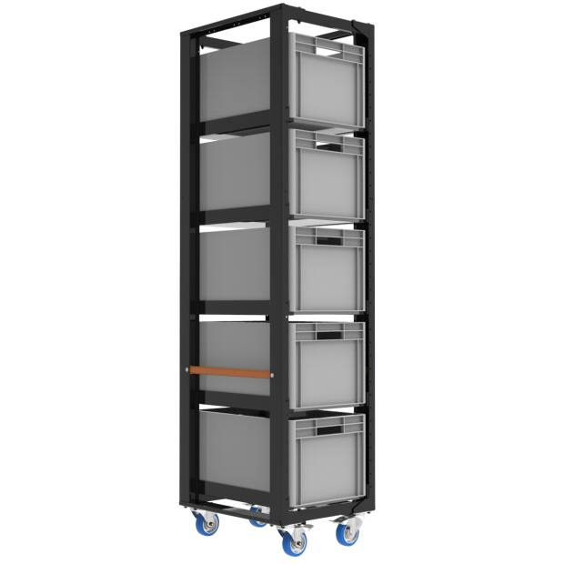 Admiral Storage cart height 203 with  set A 4x castor