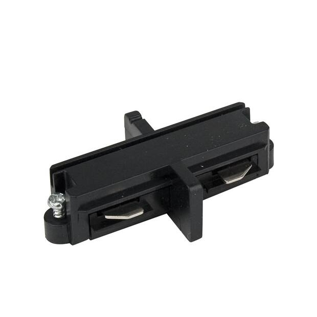 Artecta Straight connector black 1-circuit track IP20
