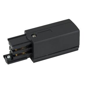 Artecta Right feed-in connector Black 3-circuit track IP20