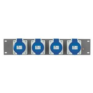 Showtec PDP-3242 - 19 inch Panel with 4 x CEE 32A 3 pole