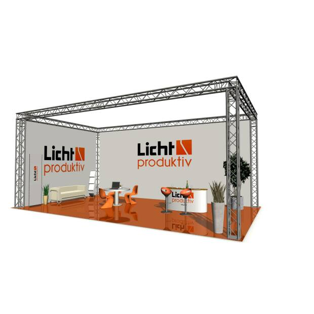 Prolyte X30V Messestand 4 x 3 x 2,5 m 4-Punkt