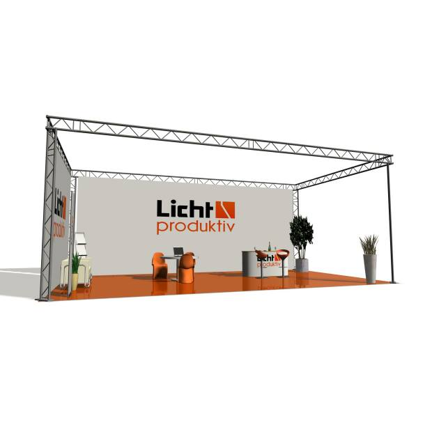 Prolyte X30L Messestand 8 x 4 x 2,5 m 2-Punkt