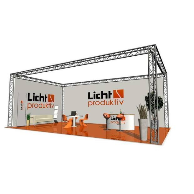 Prolyte X30D Messestand 4 x 4 x 3 m 3-Punkt