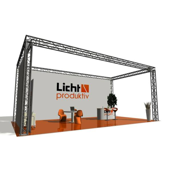 Prolyte X30V Messestand 12 x 6 x 2,5 m 4-Punkt